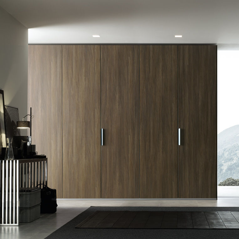 Hinged-door wardrobes pine natural lacquered contemporary wardrobe / melamine / with swing doors / with sliding door - LUUNTHY