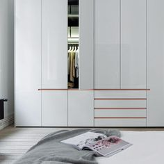 Hinged-door wardrobes pine painted white collect - walk-in wardrobes from interlübke VQYTFQI