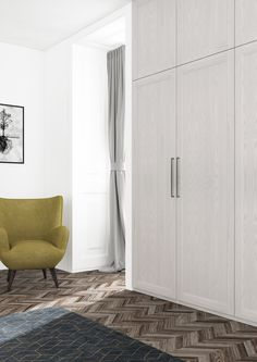 Hinged-door wardrobes pine painted white for stylish interiors, we offer nice, a hinged-door wardrobe. its discreet  framing FRUQTYC