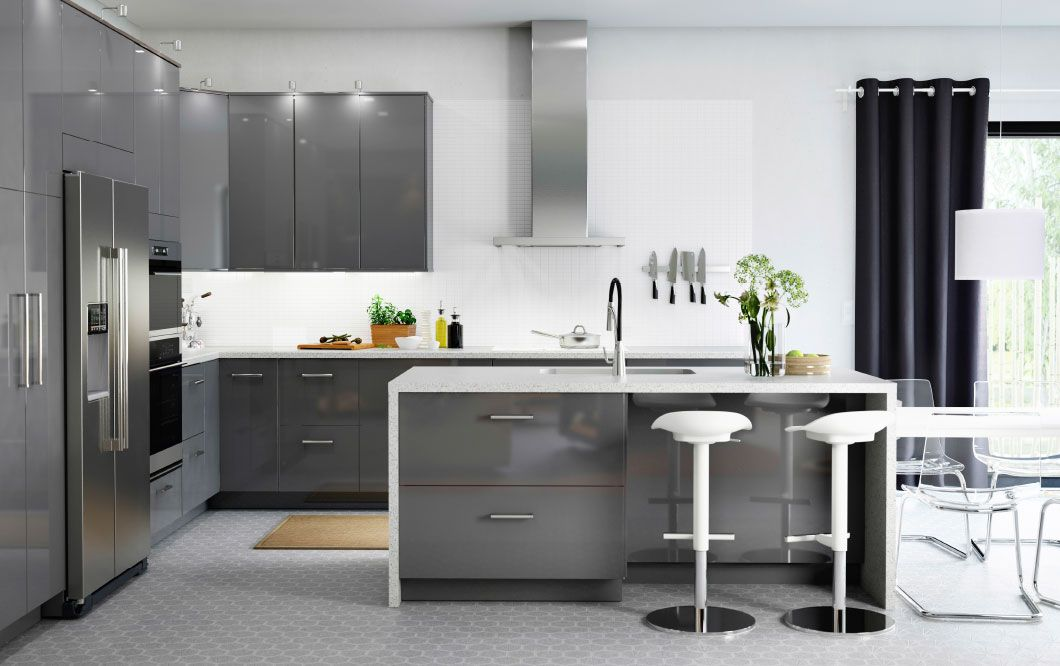 High gloss kitchens from Ikea: The most beautiful models, pictures and ideas for kitchen planning