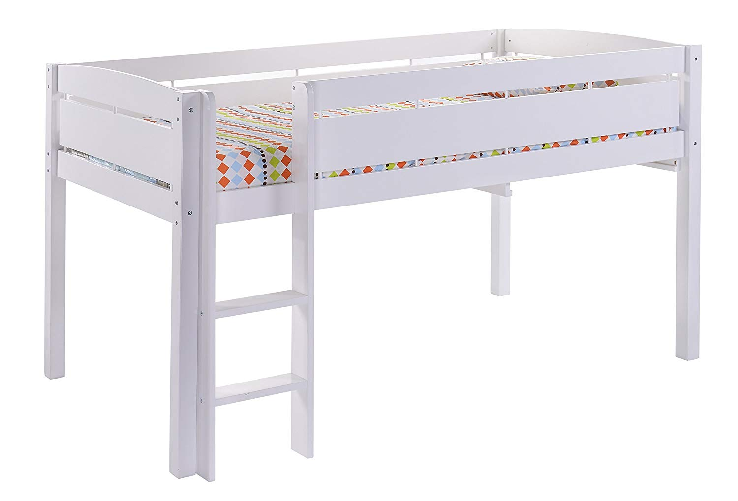 Junior beds amazon.com: canwood whistler junior loft bed, white, twin-sized mattress  (not included), bunk MBDXJWN