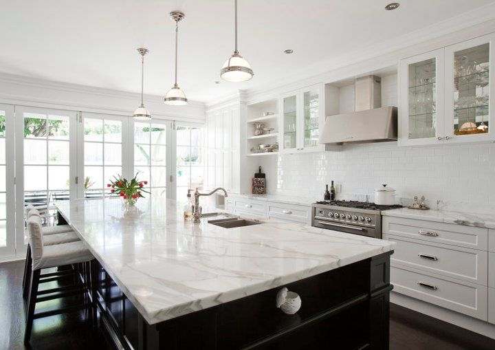 kitchen ideas with marble countertops 20 of the most gorgeous marble kitchen island ideas calcutta marble kitchen, FVIHCZF