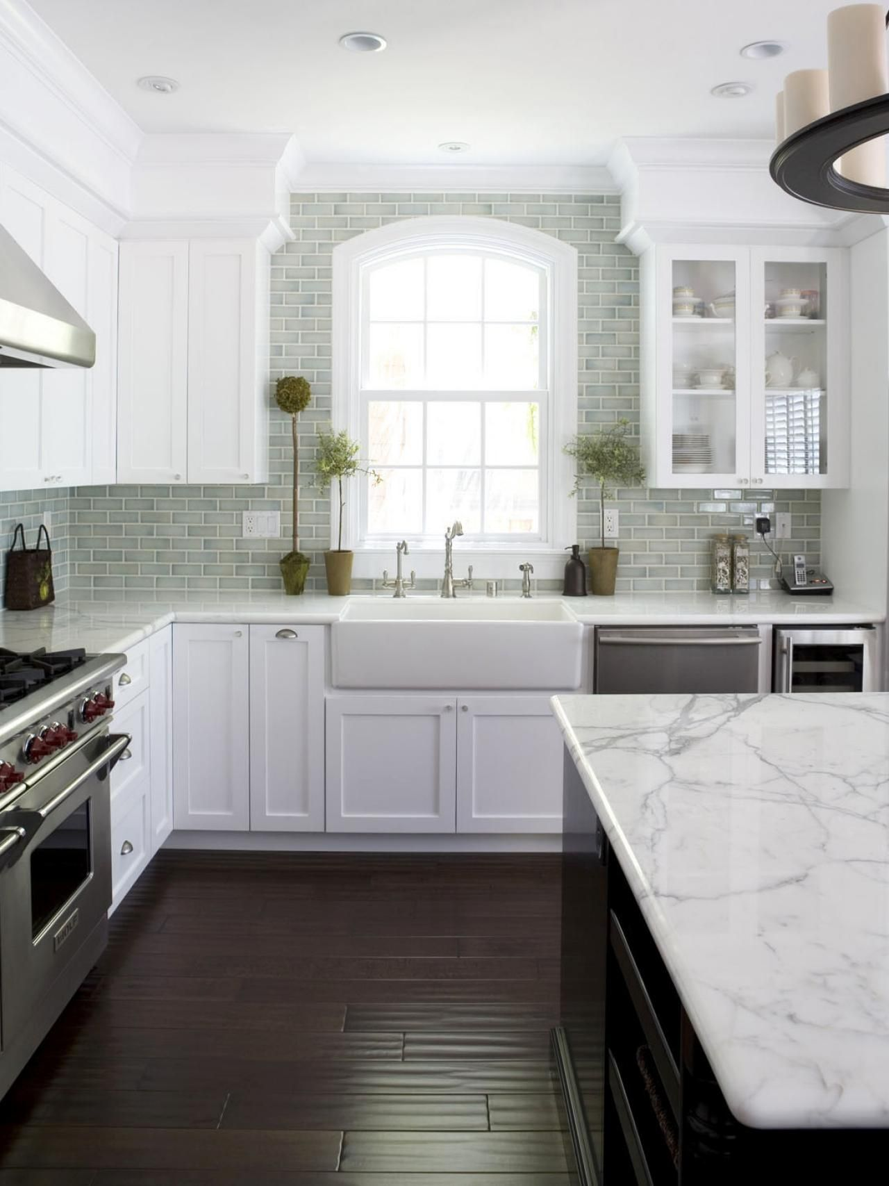kitchen ideas with marble countertops our 40 favorite white kitchens | kitchen ideas u0026 design with cabinets, TFLHELQ