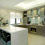 Kitchen in U-shape with bar: nice ideas and pictures for counters in small and large kitchens