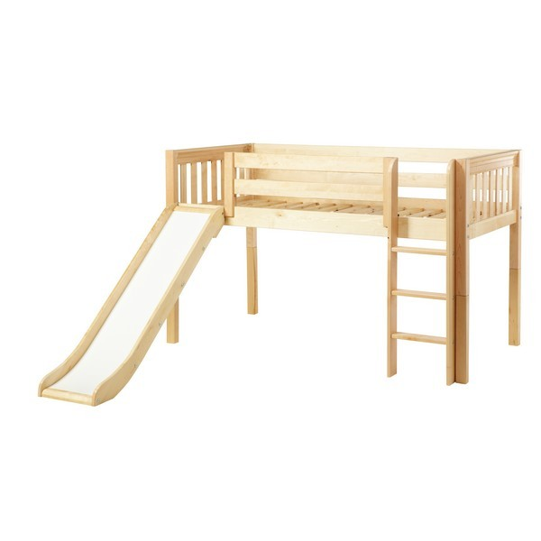 Loft beds with slide and ladder marvelous ns : low loft bed with straight ladder and slide : twin XYATUBH