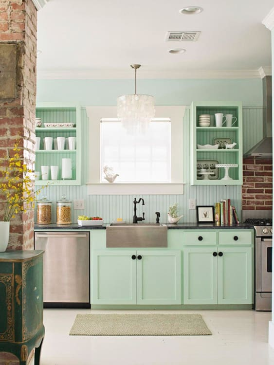 Mint Green kitchen are you reminded of your grandmotheru0027s kitchen when you see mint green QLMDPIY