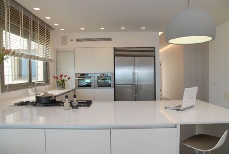 Modern L shaped kitchens all white l shaped kitchen JIUSINZ