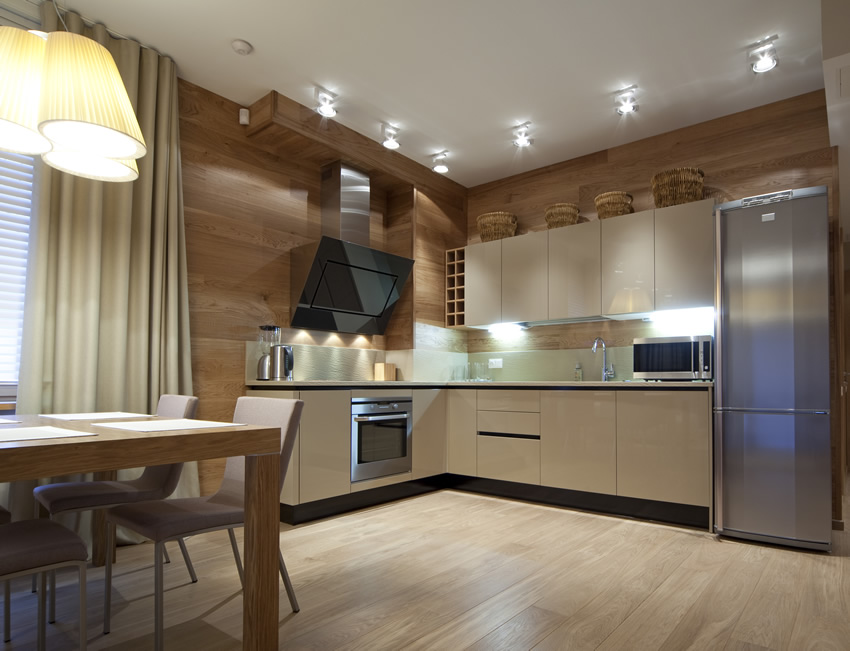 Modern L shaped kitchens modern apartment l shaped kitchen ZDYNUJM