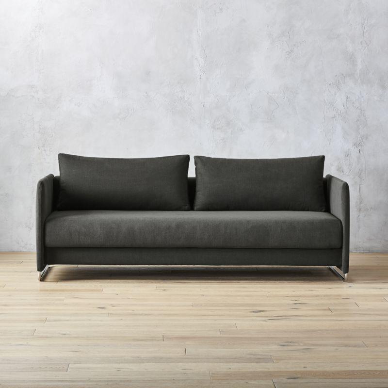 Modern sofa beds tandom dark grey sleeper sofa KGZZAAT