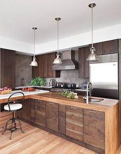 modern wood kitchens a dark and handsome kitchen JQMWIXH