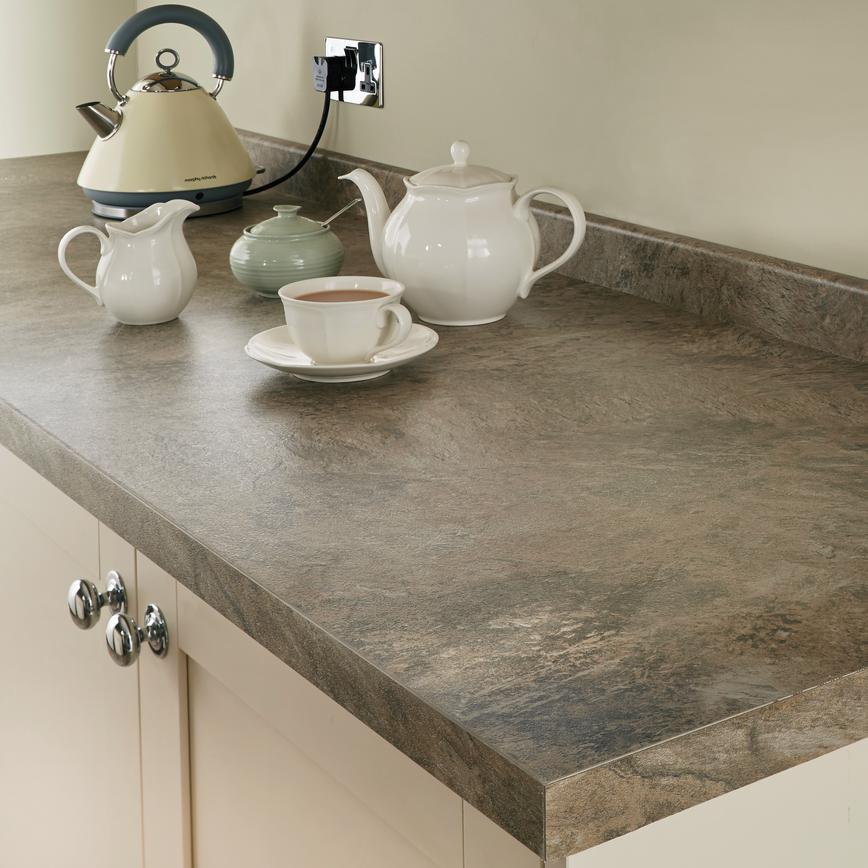 Natural stone worktop natural stone tan 38mm square edge worktop 3m length QIFERNO