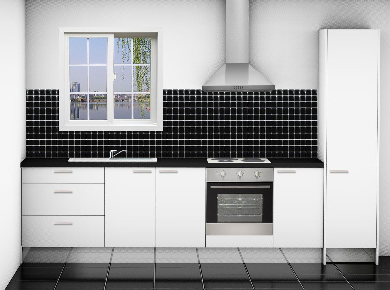 One line kitchens awesome one wall kitchen layouts #9 - straight line kitchen cabinets designs AOSIBCL