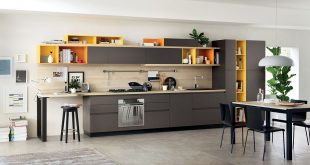 One line kitchens view in gallery gorgeous kitchen shelves in gray and yellow FNBXZLT