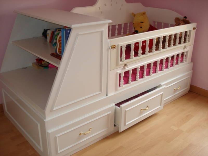Princess Cots princess cot with shelves KLEHCJS