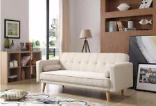 Retro style Sofa beds beige fabric sofa bed retro style lounge sofa couch living room furniture YLDFBKE