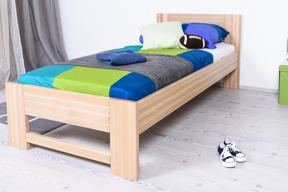 Slatted frames 100×200 single bed / day bed solid, natural beech wood 111, including slatted frame RSTPVFB