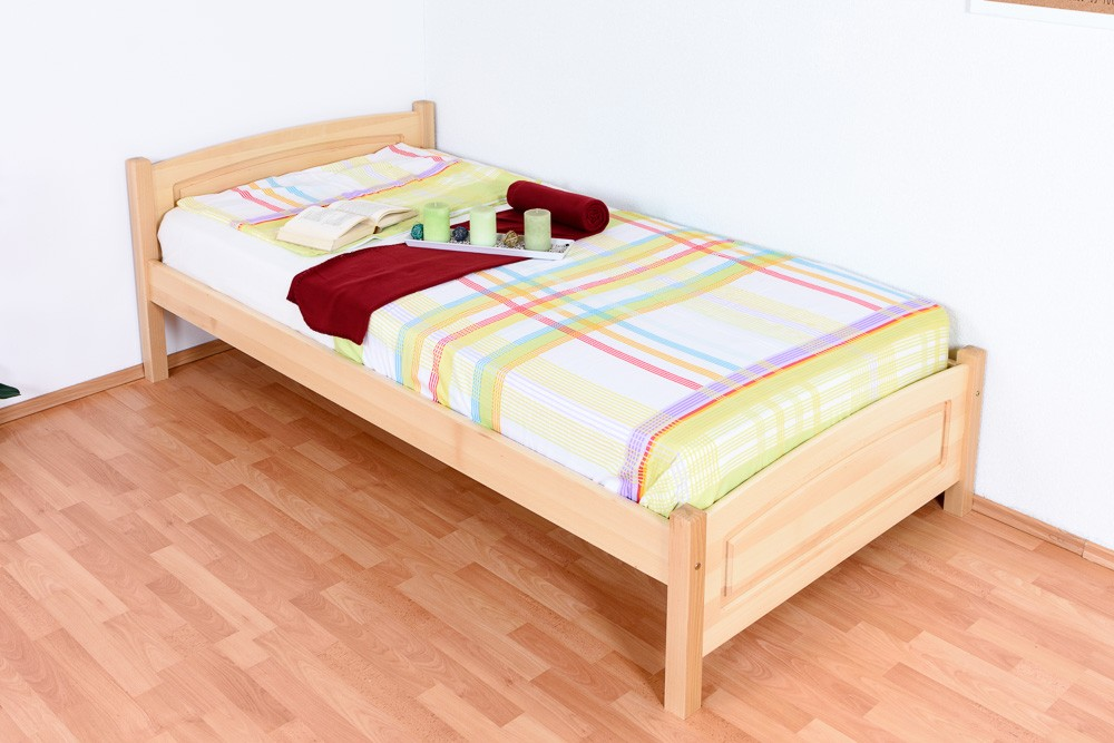 Slatted frames 100×200 single bed / day bed solid, natural beech wood 117, including slatted frame FPCKNPQ