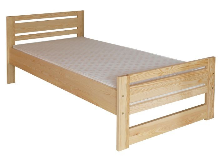 Slatted frames 100×200 single bed / guest bed 72c, solid pine, clear finish, incl. slatted bed ZGMXQEB