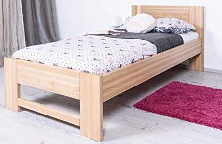 Slatted frames 100×200 single bed/guest bed solid beech wood natur 111, incl, slatted frame - MMDHLCZ