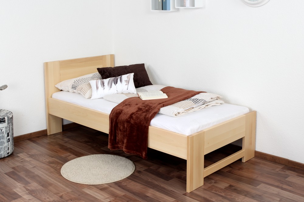 Slatted frames 90×200 single bed / day bed solid, natural beech wood 111, including slatted frame EYXWEAF