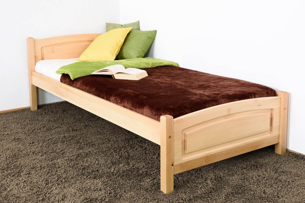 Slatted frames 90×200 single bed / day bed solid, natural beech wood 117, including slatted frame NXESPZB