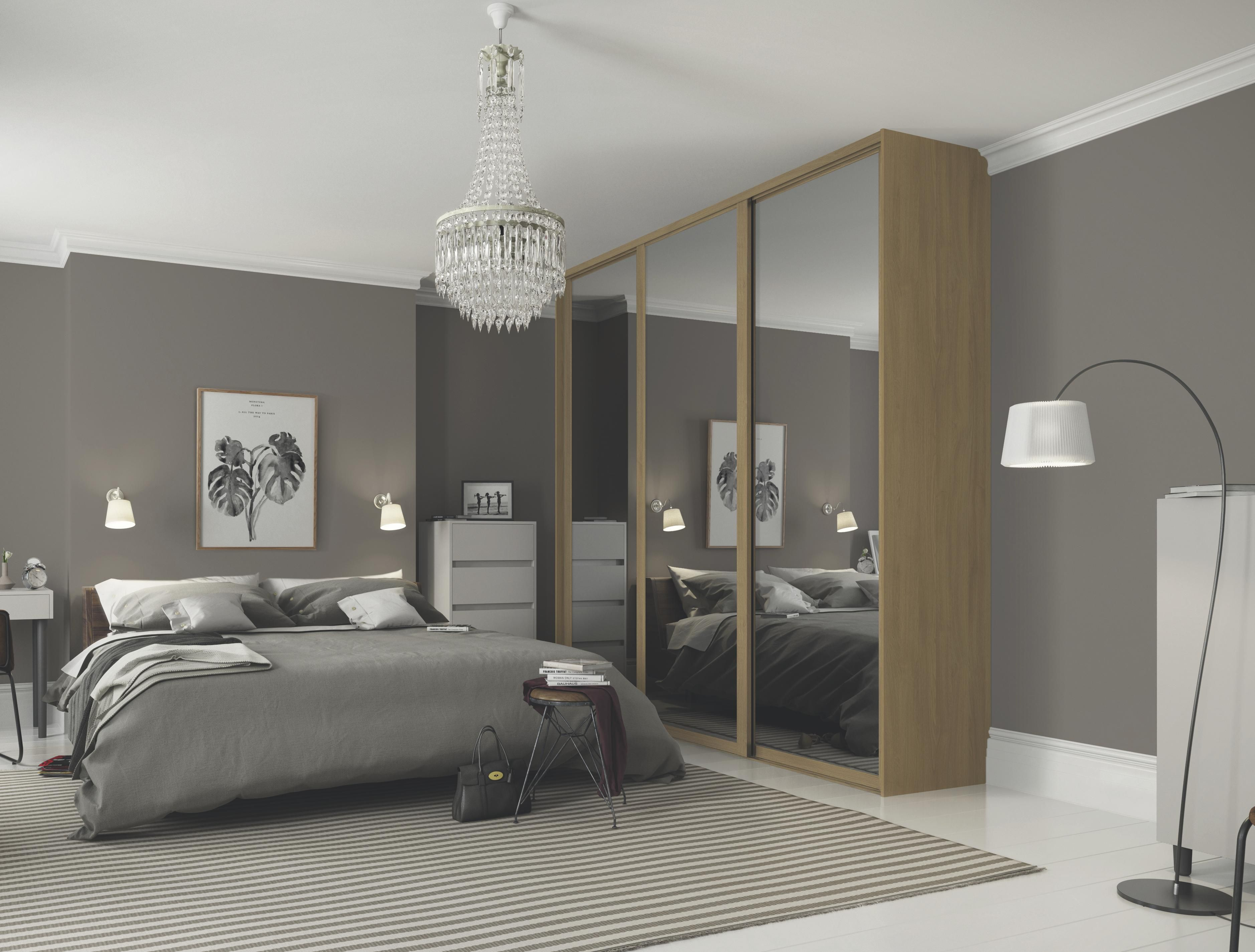 Sliding door wardrobes with mirror sliding door kits SGCHVJL