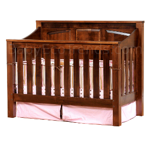 solid wood baby crib mission panel 4 in 1 convertible baby crib made in usa | baby BAHAAVB
