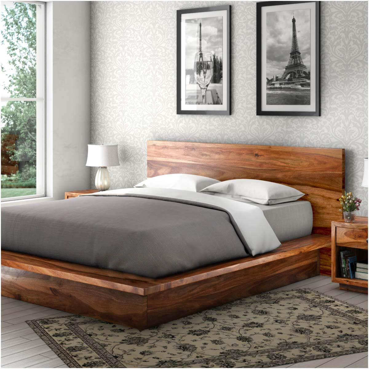 Solid wood beds delaware solid wood platform bed frame JUZTJNB
