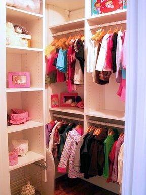 Walk-in corner wardrobes for children's room children closet design ideas - california closets dfw EYDPUJR