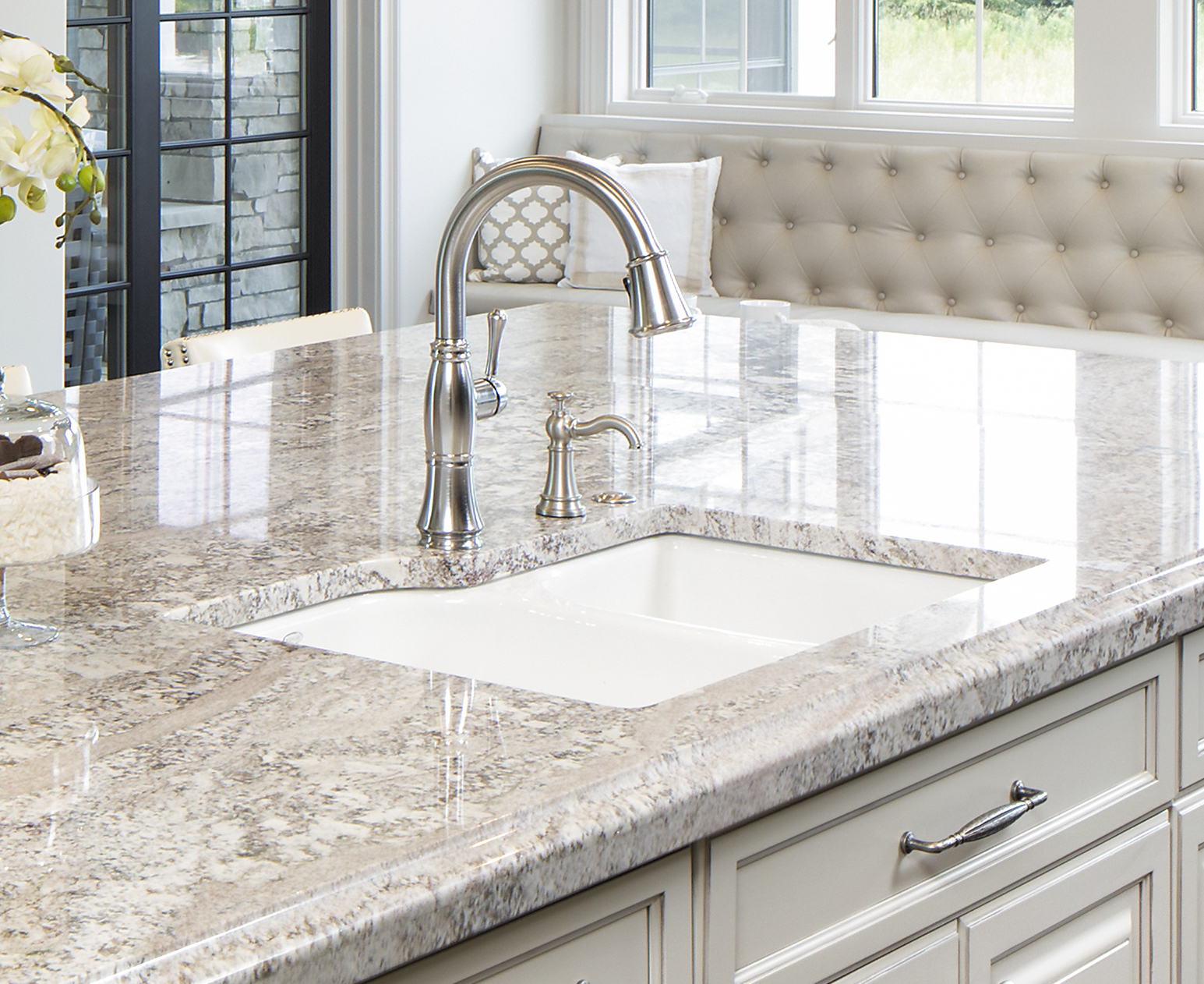 Which sink is suitable for a granite countertop kitchen sink set in granite countertop by cu0026d granite minneapolis mn XNPIHXC