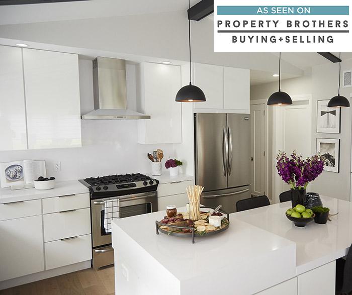 white high gloss kitchen cabinets - diamond FCXJNTW