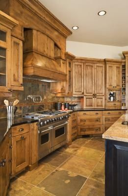 Wood kitchen how to decorate around natural wood kitchen cabinets | ehow. i love these CWVTRNP