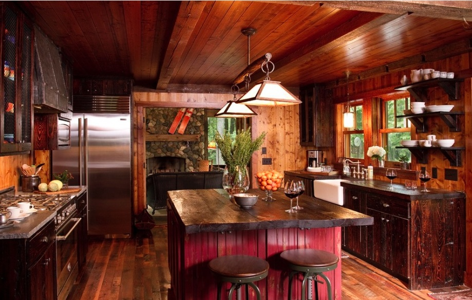 Wooden country style kitchens dark wood kitchen IDPWZHC