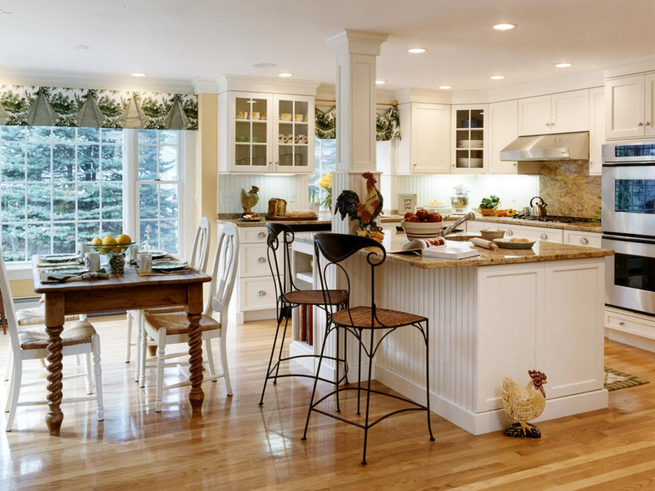 Wooden country style kitchens kitchen design images - kitchen in country style with wooden floors, wooden LROERFS