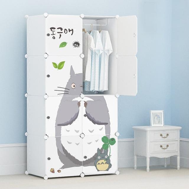 8% Cartoon door Freestanding ABS Plastic diy folding cupboard baby