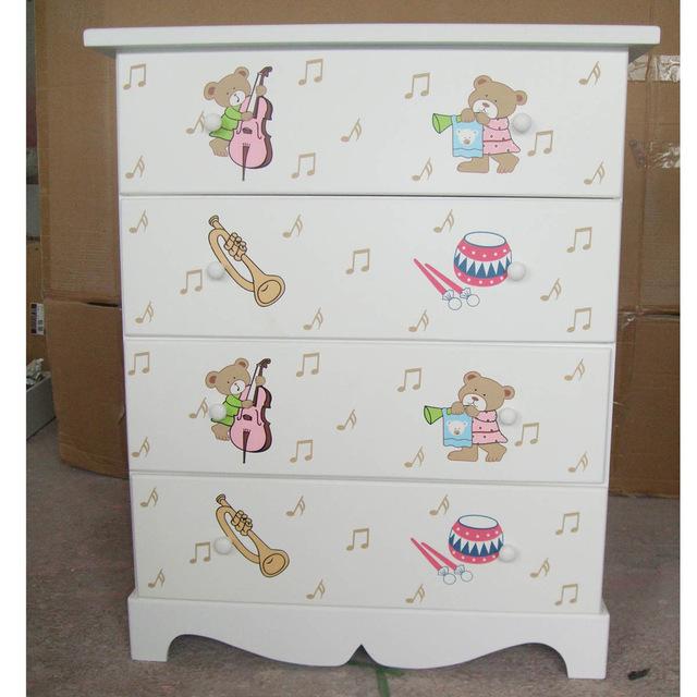 Korean cartoon wooden 4 Drawers / Child wardrobe / cupboard