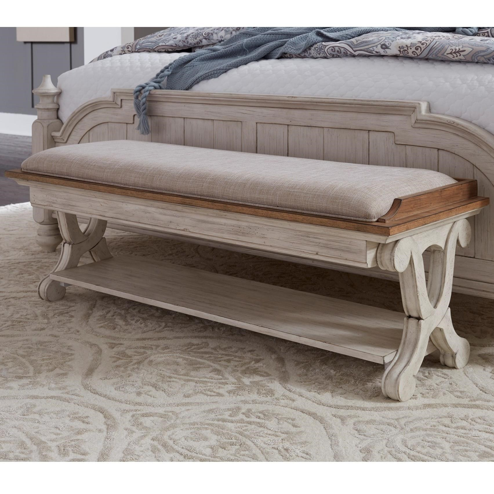 Liberty Furniture Farmhouse Reimagined Relaxed Vintage Bed Bench