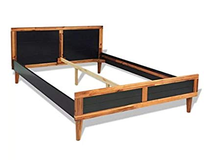 Amazon.com: ComfyLeads Bed Frame Made of Solid Acacia Wood and MDF