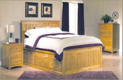 Amish - Alder Shaker Solid Wood Bedroom Set -Puritan Furniture CT