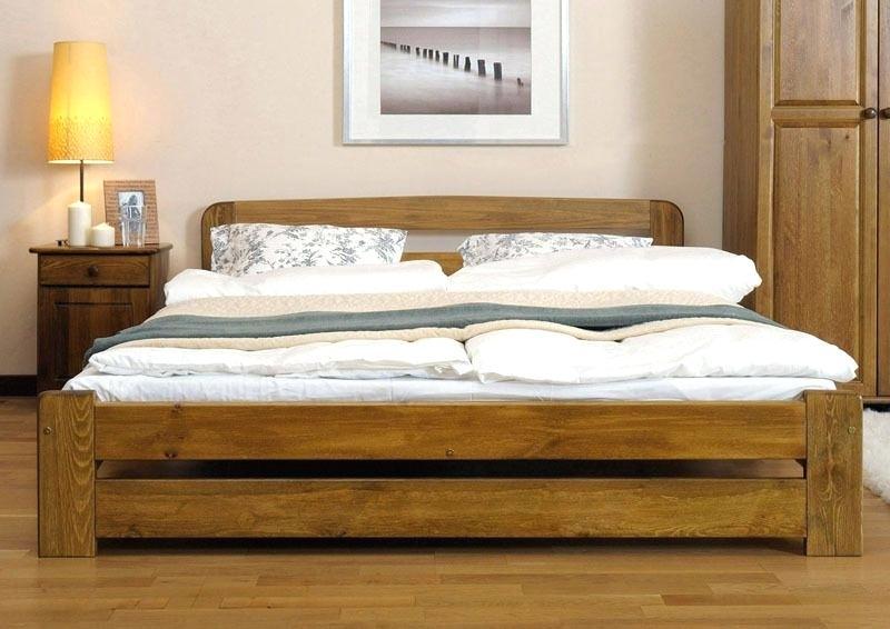 New Solid Wooden King Size Bed Frame One Pine Walnut Oak Alder