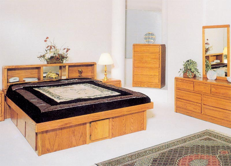 Waterbed Tulip HB or with Waterbed - Queen, Queen Waterbeds & Frames