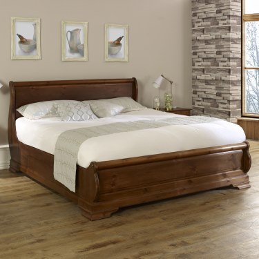 Solid Wooden Sleigh Beds | Handmade Oak Sleigh Bed Frames