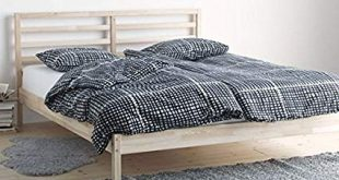 Amazon.com: Ikea Tarva Full Size Bed Frame Solid Pine Wood Brown