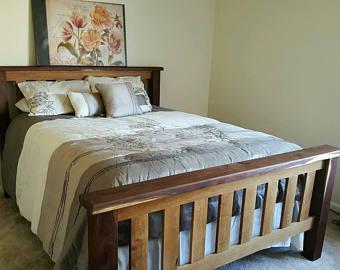 White oak bed | Etsy