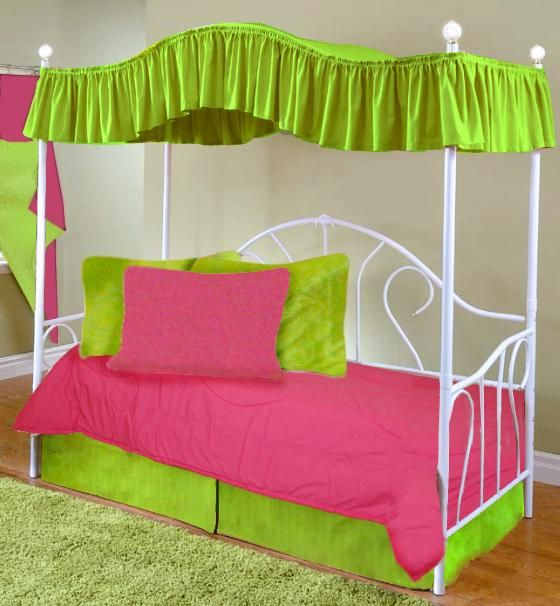 Canopy Covers for Twin Beds | Hot Pink Full Size Canopy Top Fabric