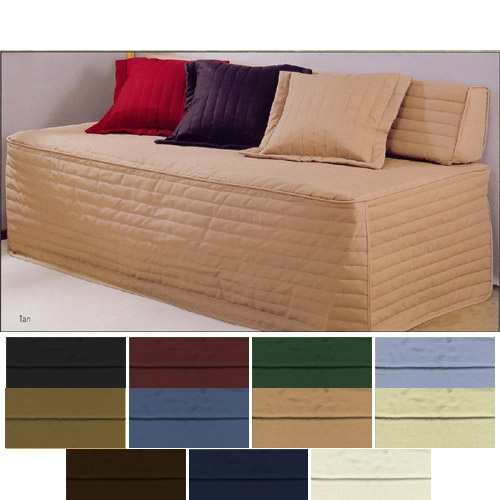 Beds with fabric covers