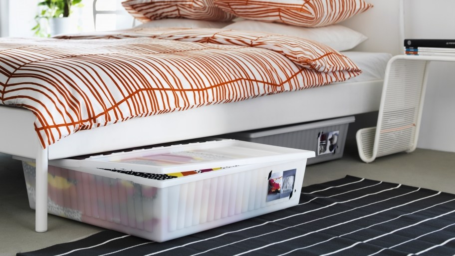 Look under the Bed for Additional Storage Space