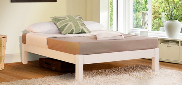 Image of bed without headboard