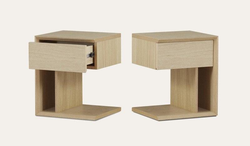 Bondi | beach oak bedside table