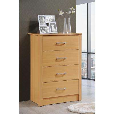 Beech chest of drawers for the bedroom